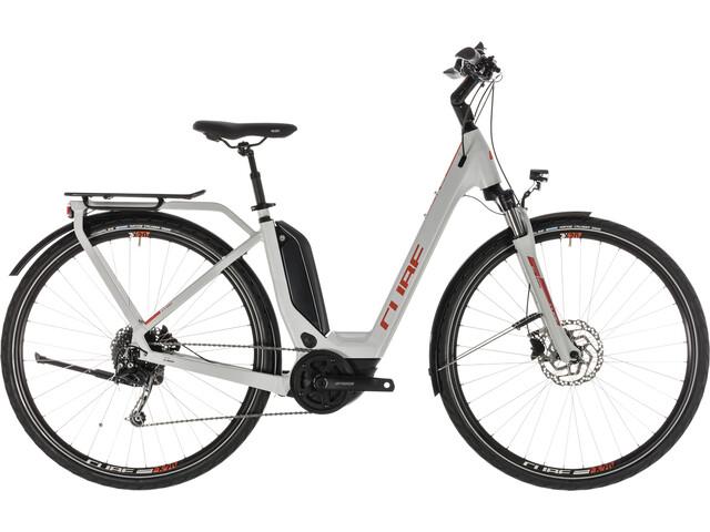 Cube Touring Hybrid 400 E-Trekking Bike Easy Entry grey